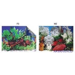 Фон для аквариума двухсторонний высота 60 см море/река